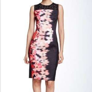 T Tahari Floral Lace Top Sheath Dress Size 4